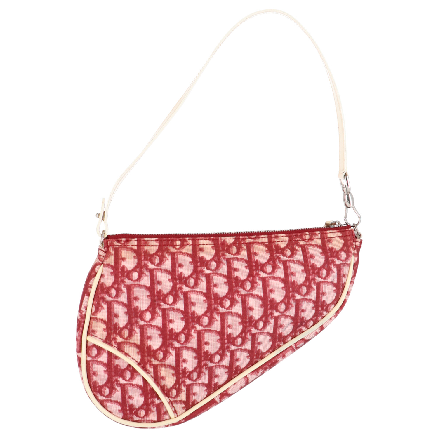 Dior Red Coated Canvas Saddle
