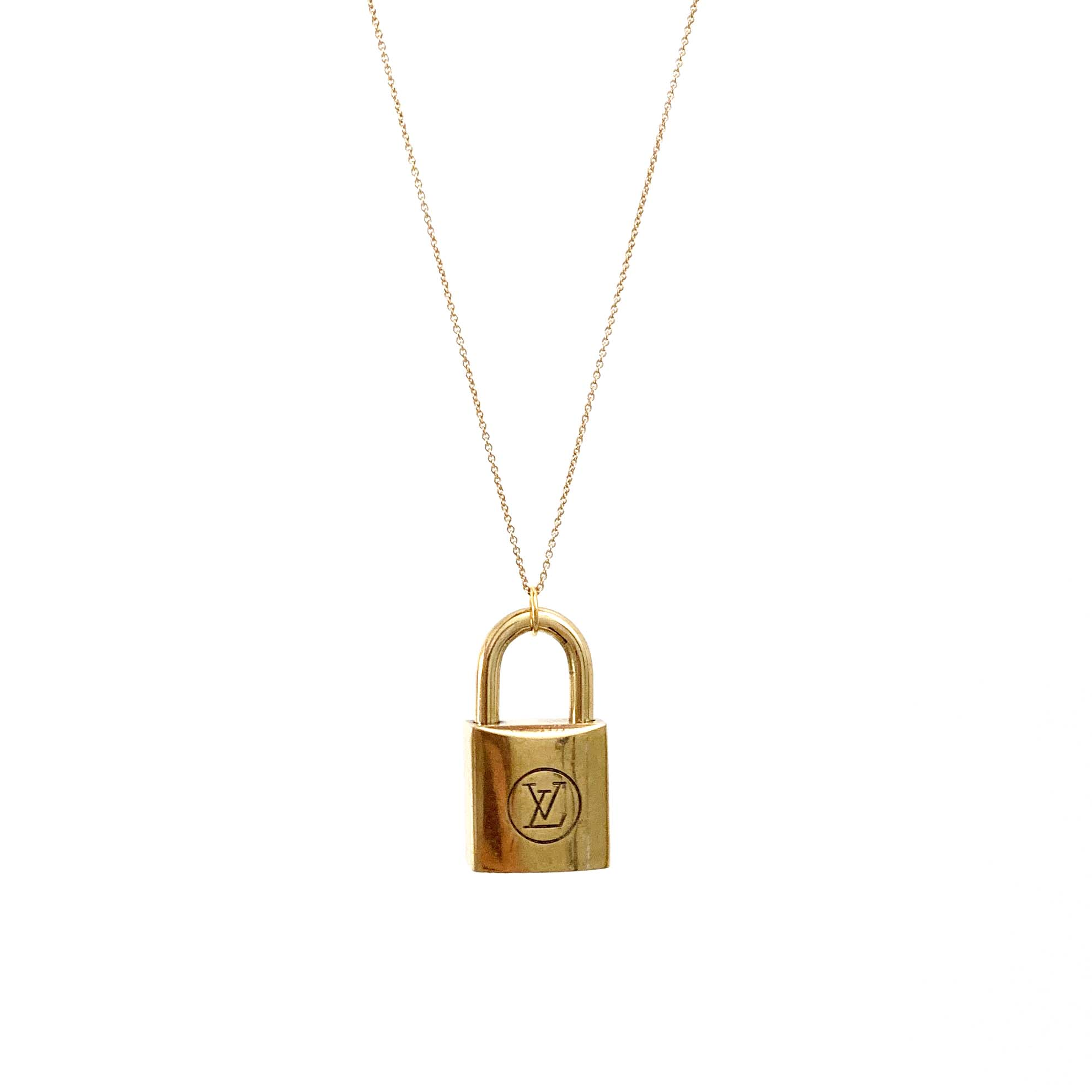 Gold-Plated Lock Necklace Special Edition
