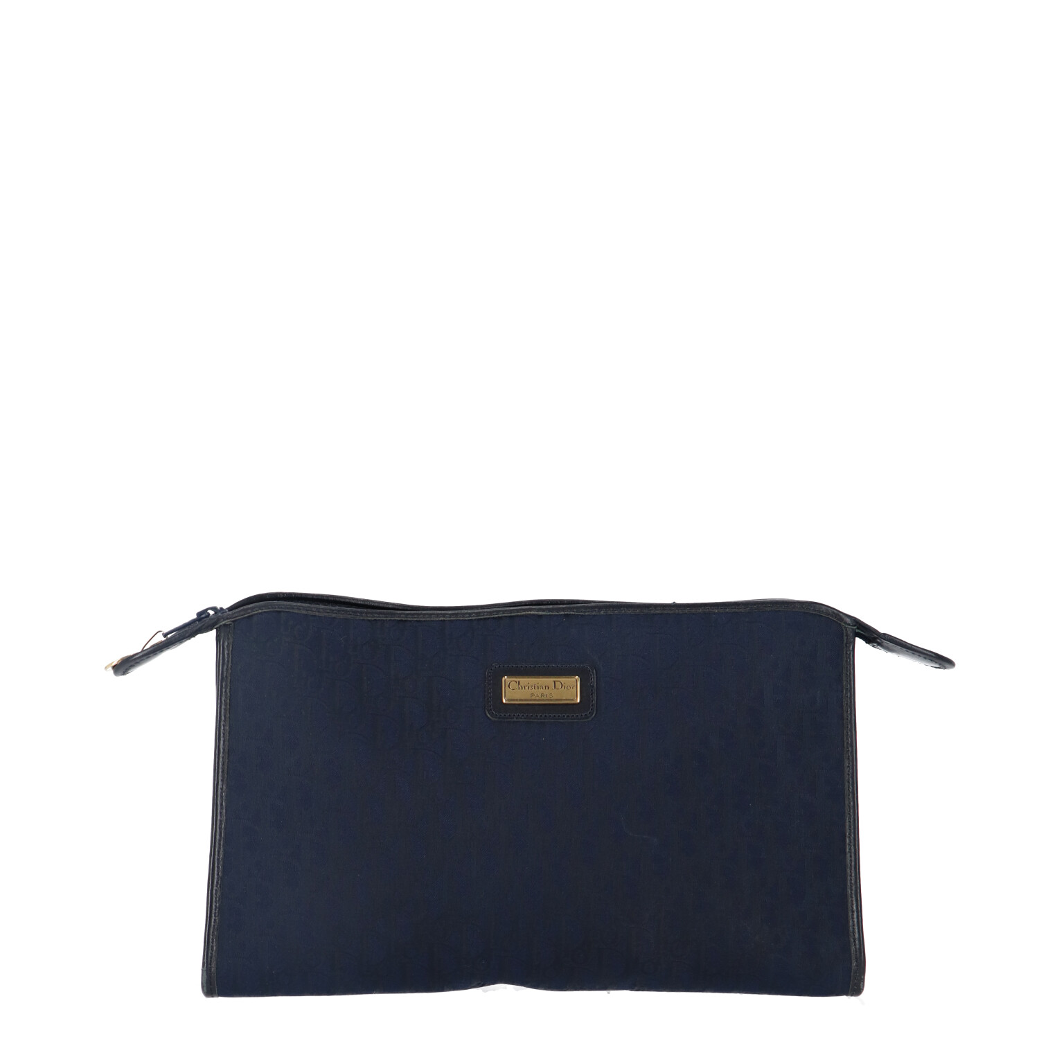 Dior Blue Oblique Canvas Clutch