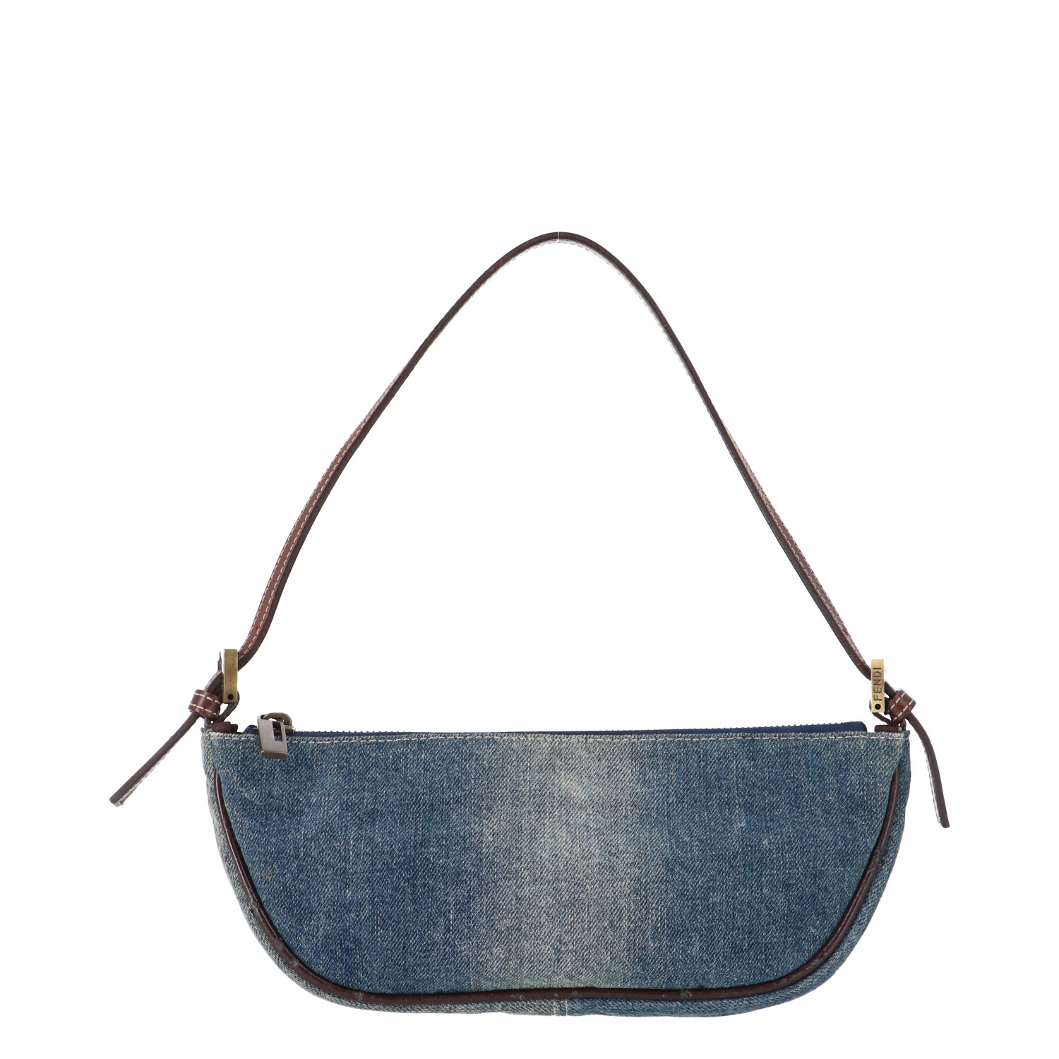 Fendi Blue Denim Shoulder Bag