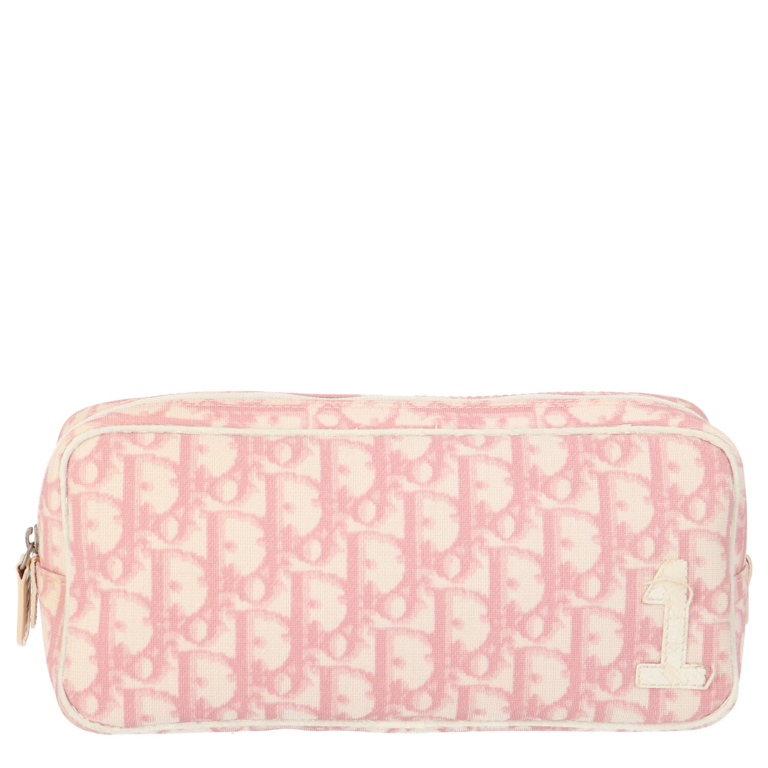 Pink Coated Canvas Pouch