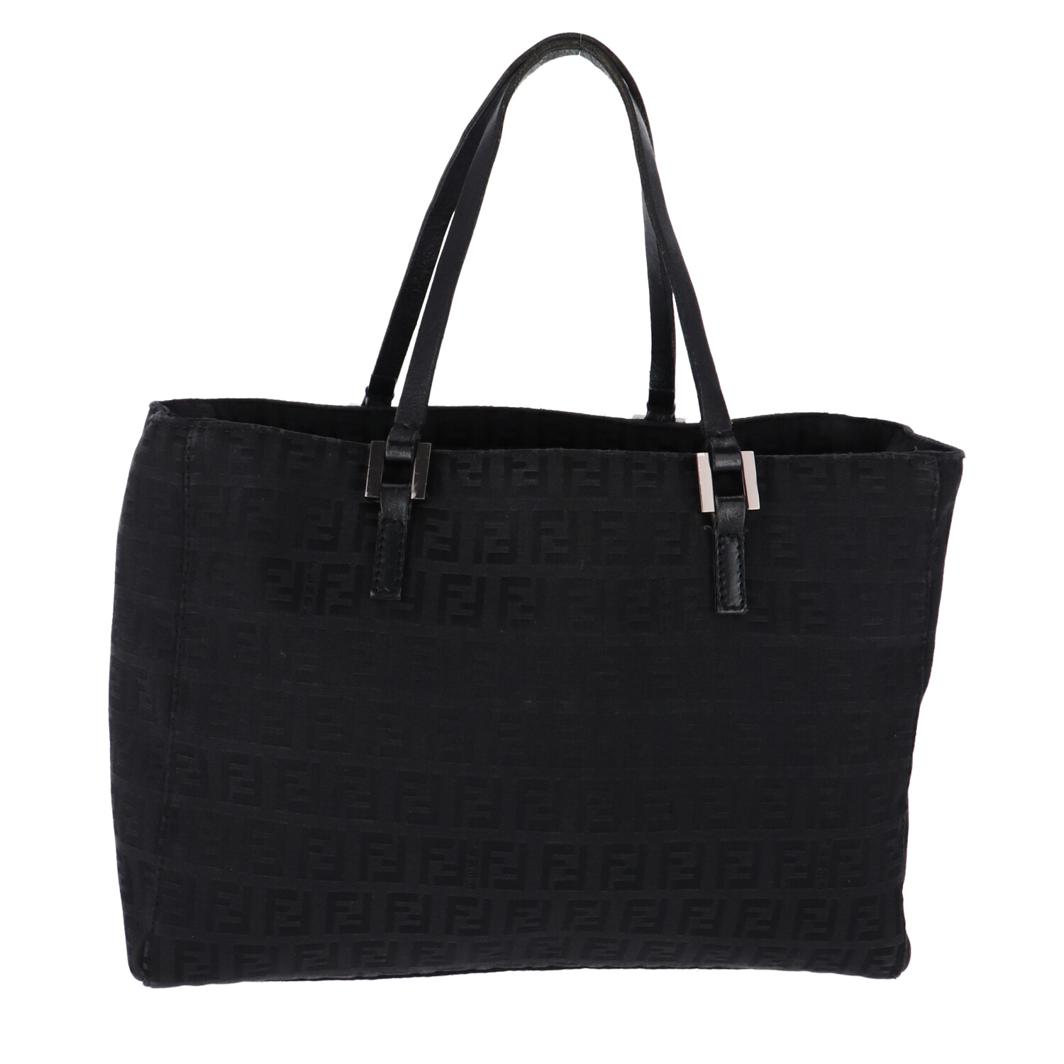 Fendi Black Zucca Canvas Handbag