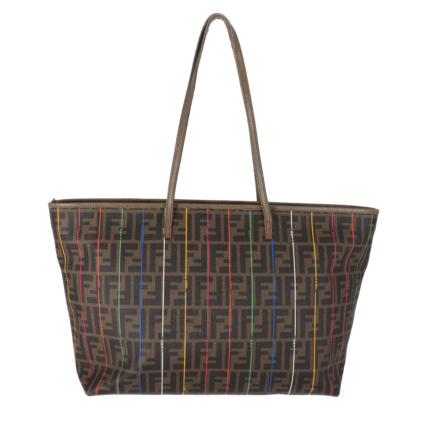 Fendi Multicolor Zucca Coated Canvas Shopper