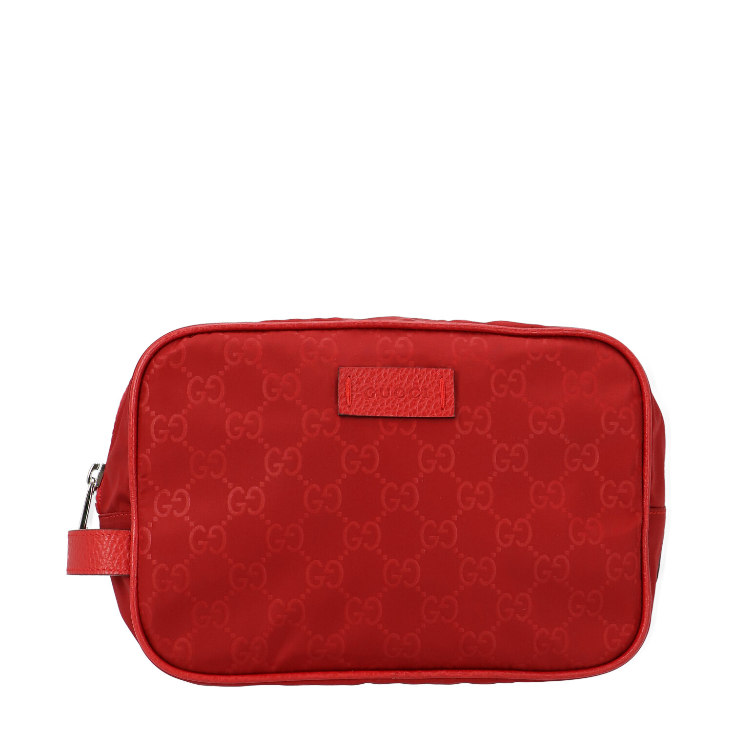Red Diamante Canvas Cosmetic Pouch