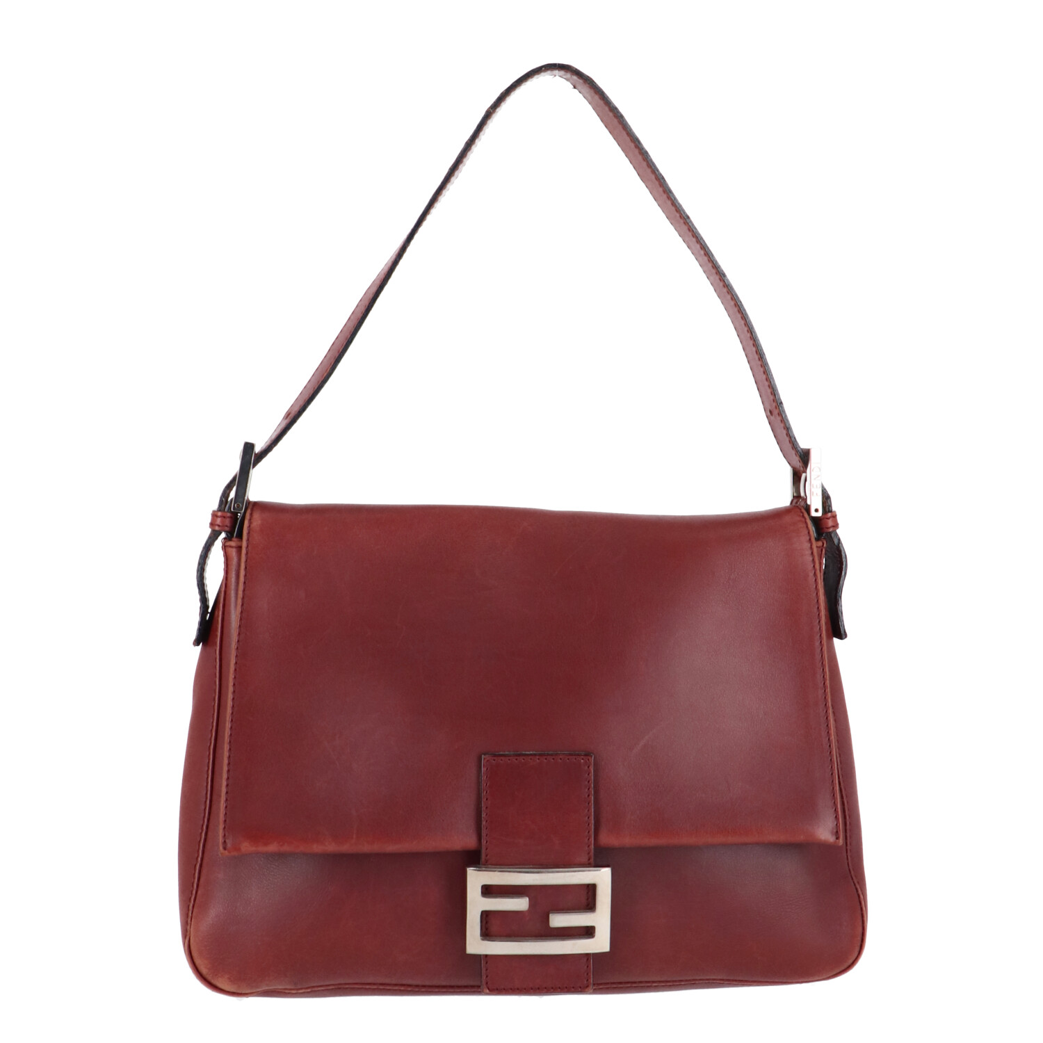 Burgundy Leather Baguette Mamma