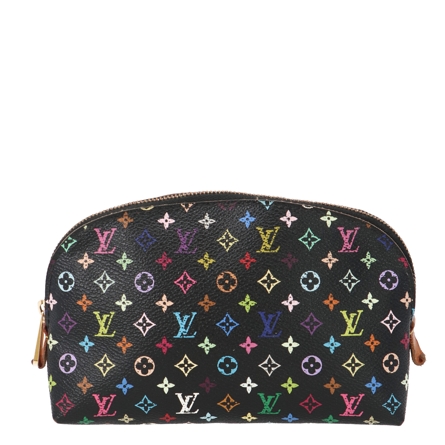 Louis Vuitton Black Multicolor Monogram Canvas Cosmetic Pouch