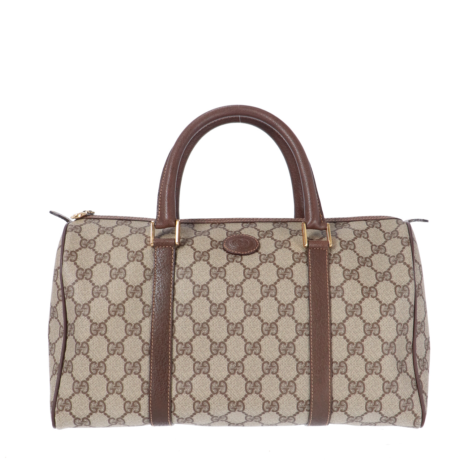Brown Diamante Coated Canvas Bowling Bag