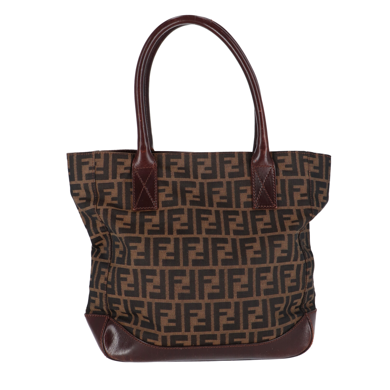 Brown Zucca Canvas Shoulder Bag