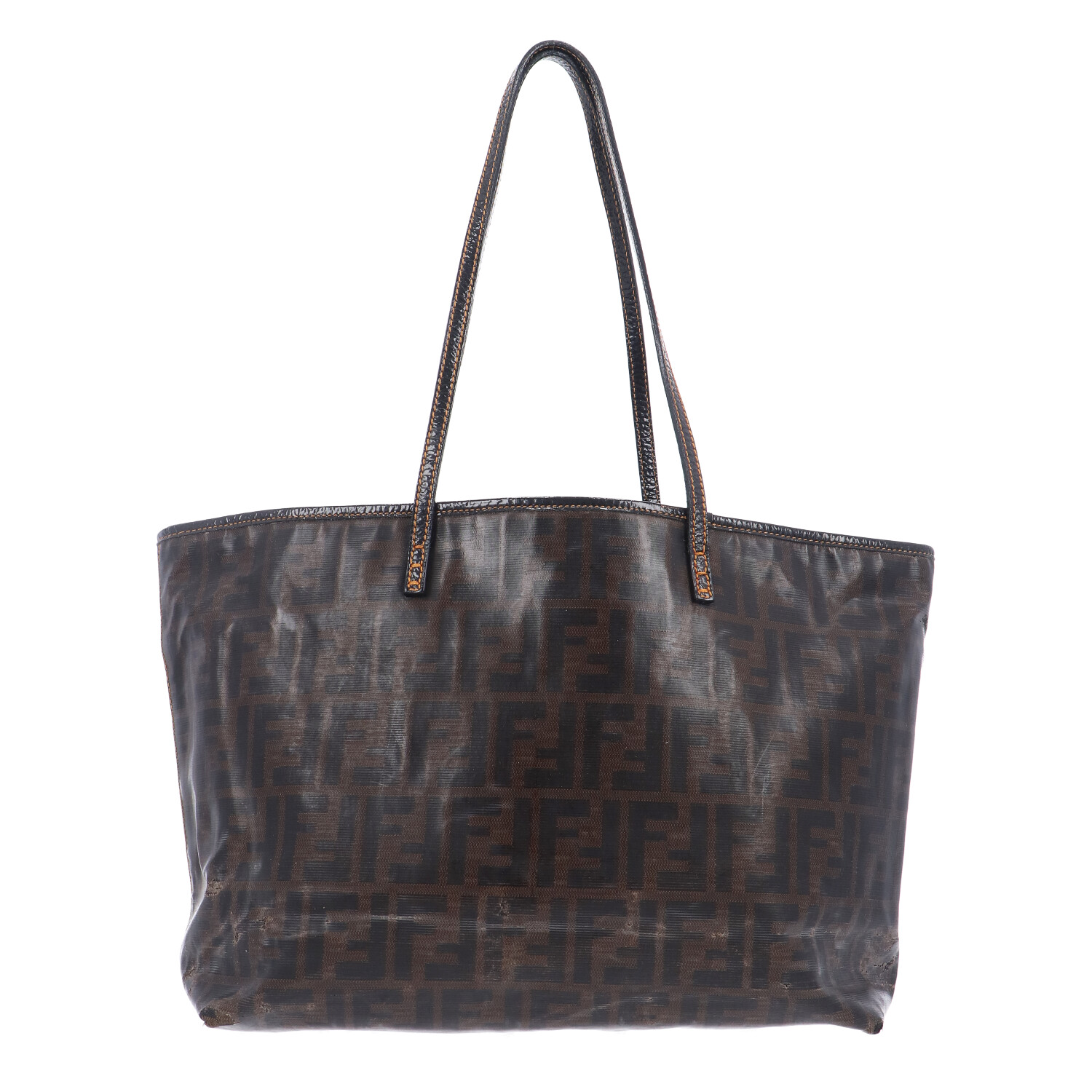 Brown Zucca Coated Canvas Shopper