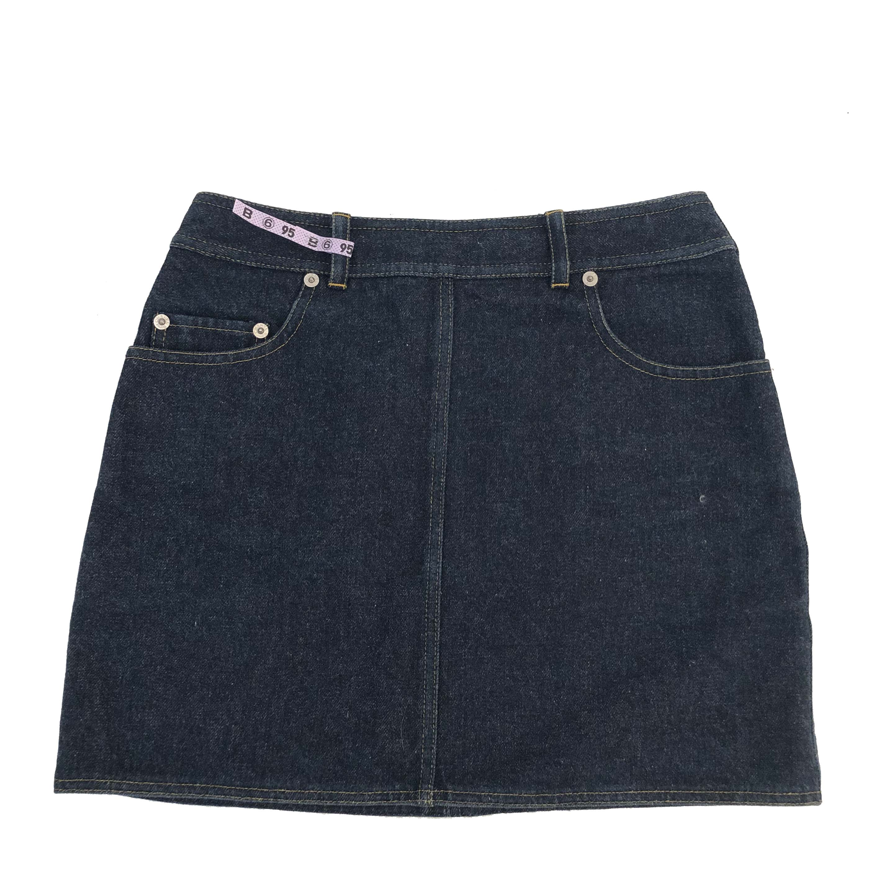 Chanel Blue Wash Denim Skirt