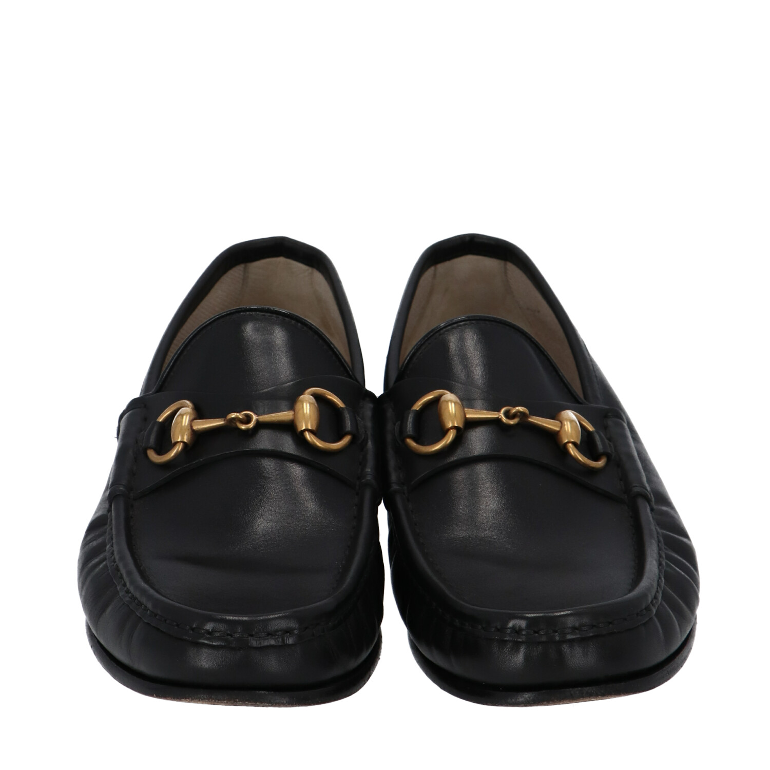 Gucci Black Leather Loafers
