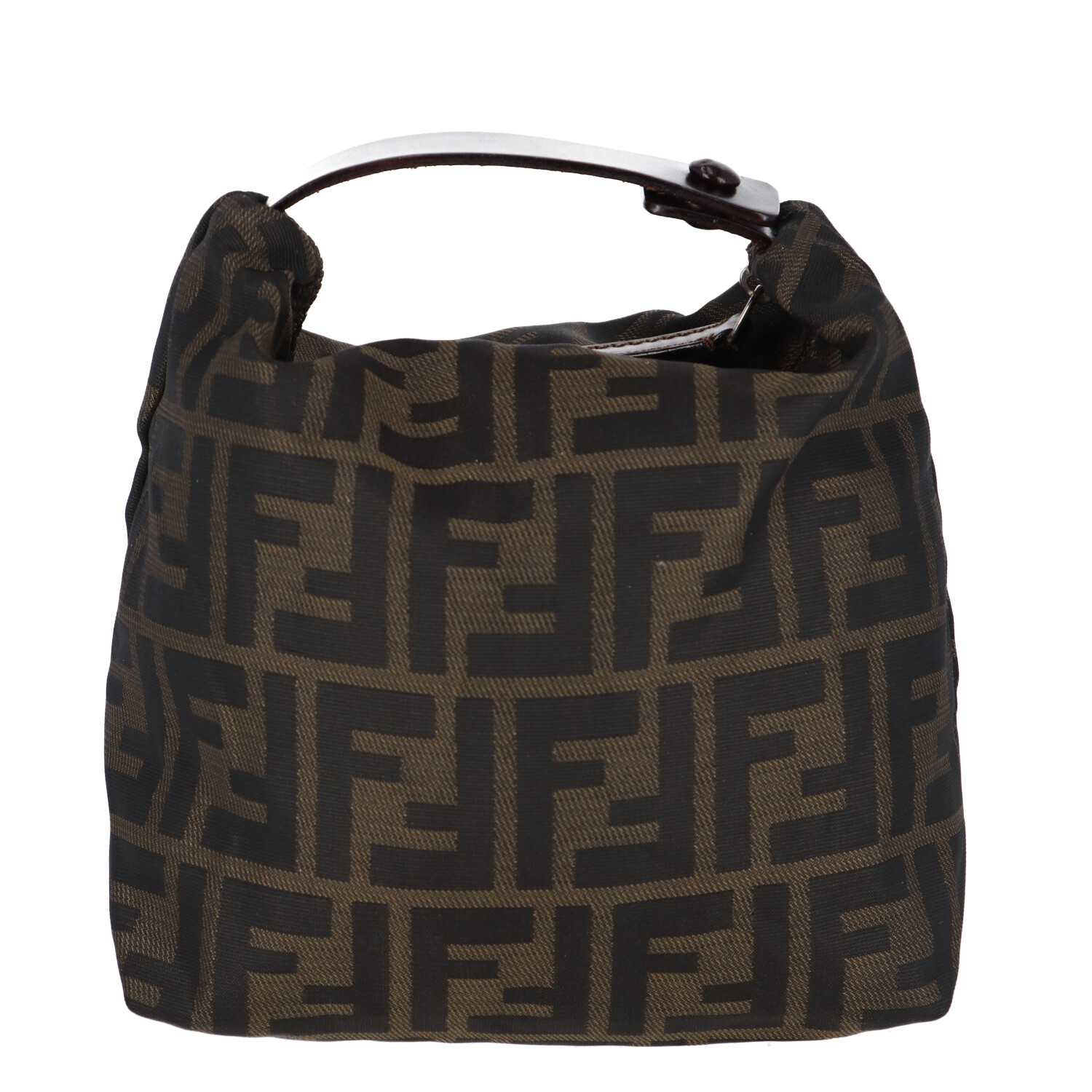 Brown Zucca Nylon Handbag Mini