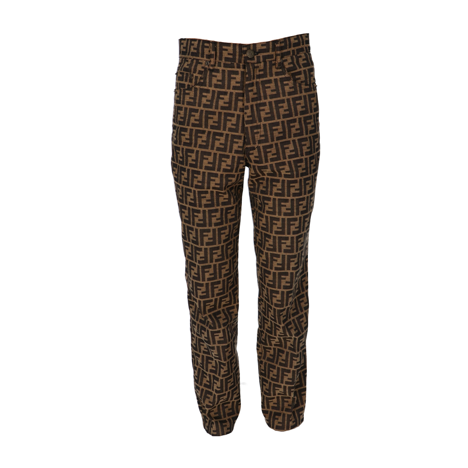 Brown Zucca Fabric Pants