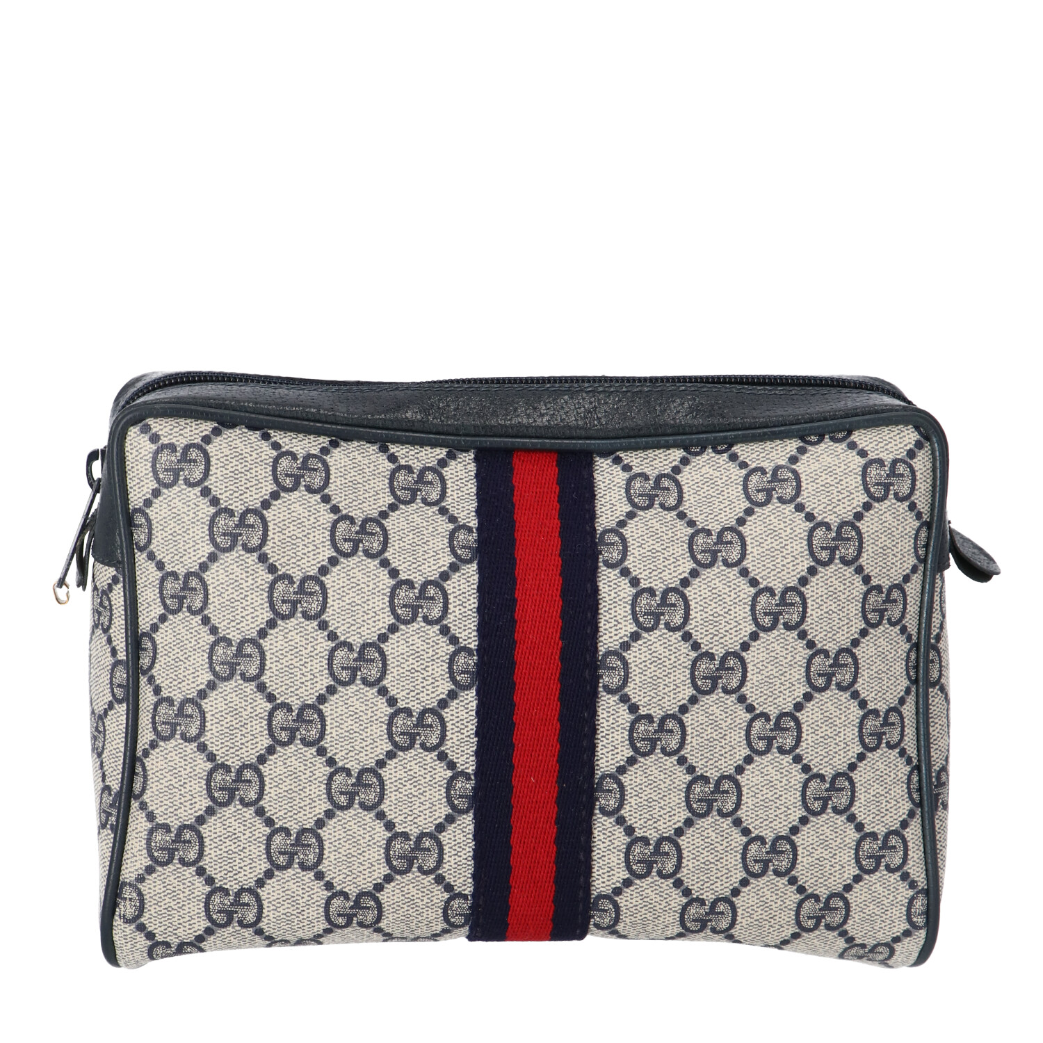 Gucci Blue Diamante Coated Canvas Cosmetic Pouch
