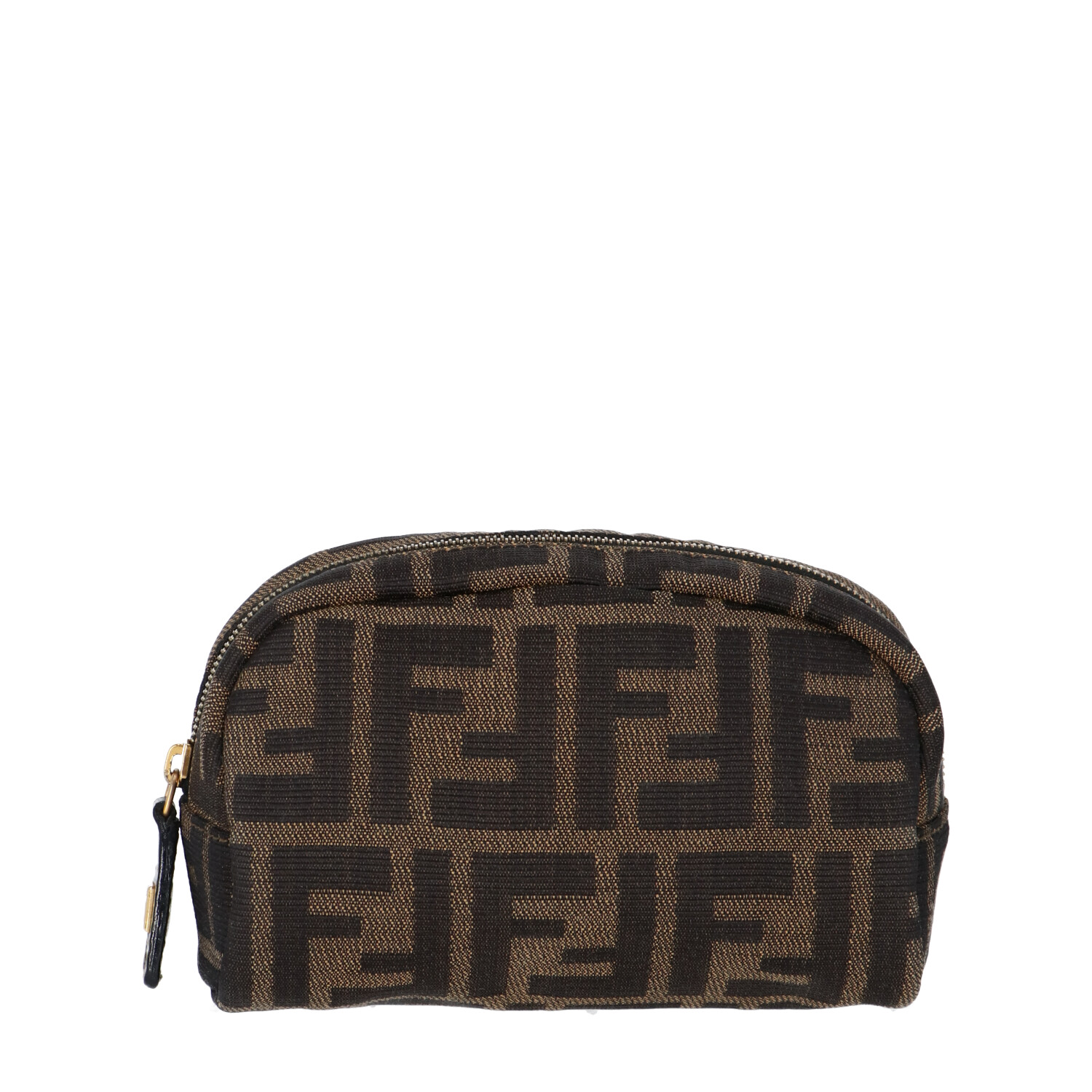 Fendi Brown Zucca Canvas Cosmetic Bag