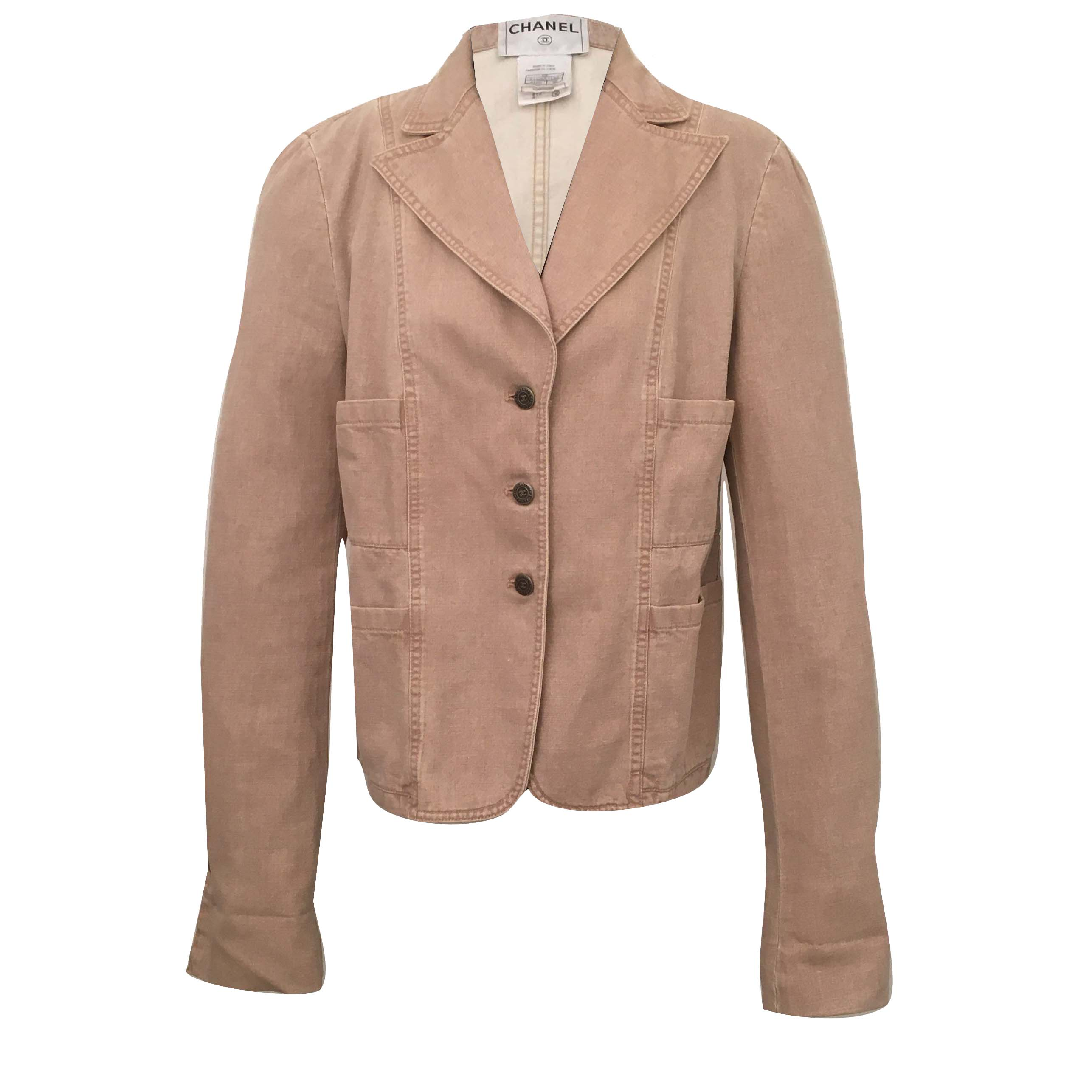 Chanel Beige Cotton Jacket