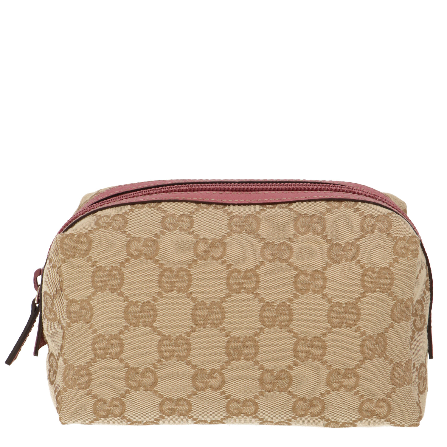 Brown Diamante Canvas Cosmetic Pouch
