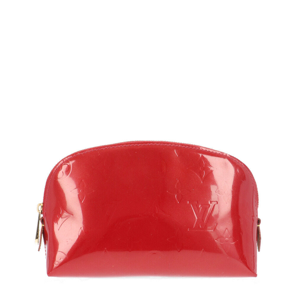Louis Vuitton Red Monogram Vernis Cosmetic Pouch