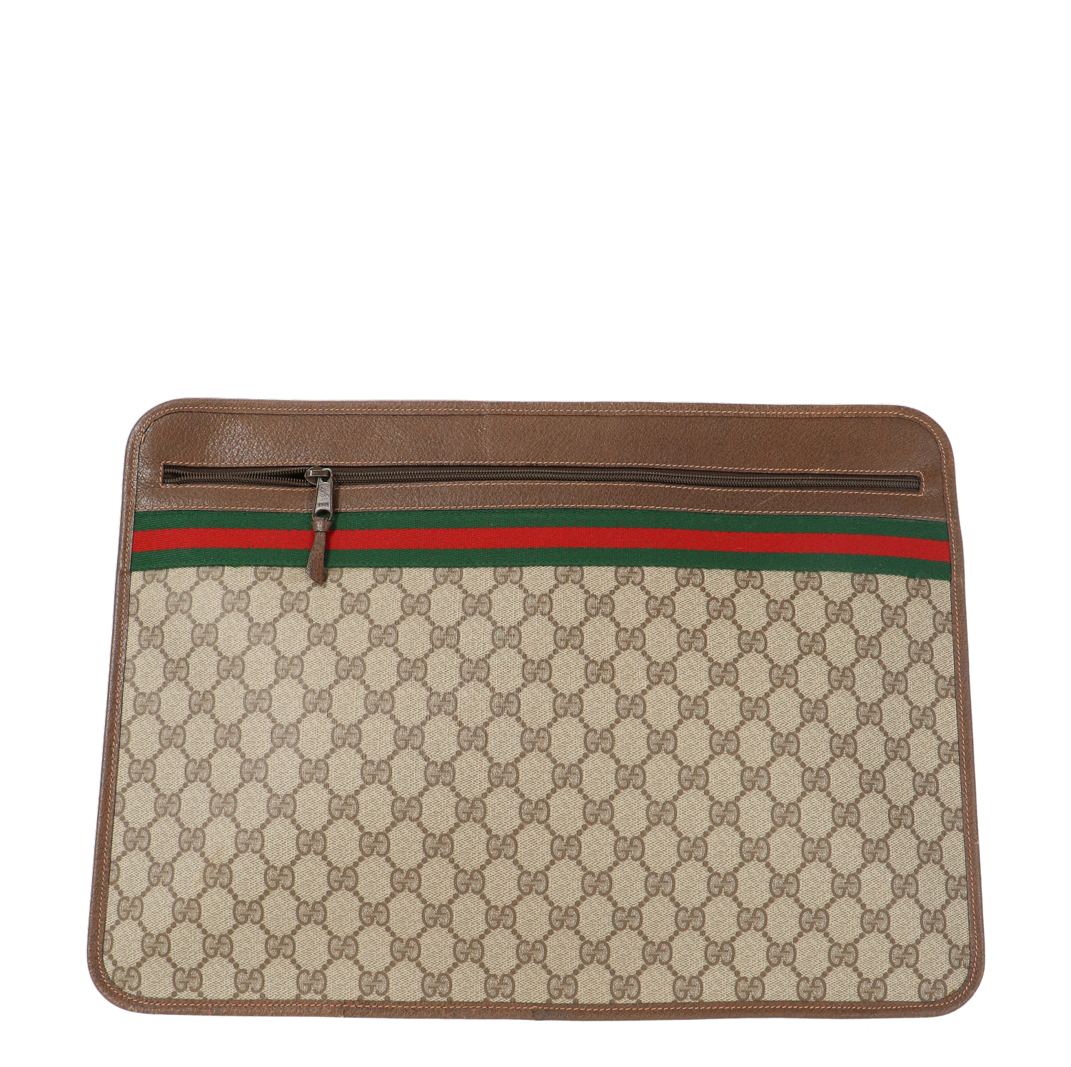Gucci Brown Diamante Coated Canvas Accessory Collection Document Case