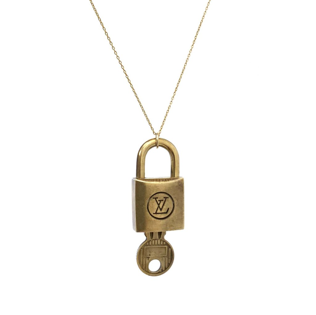 Gold-Plated Lock and Key Necklace Special Edition