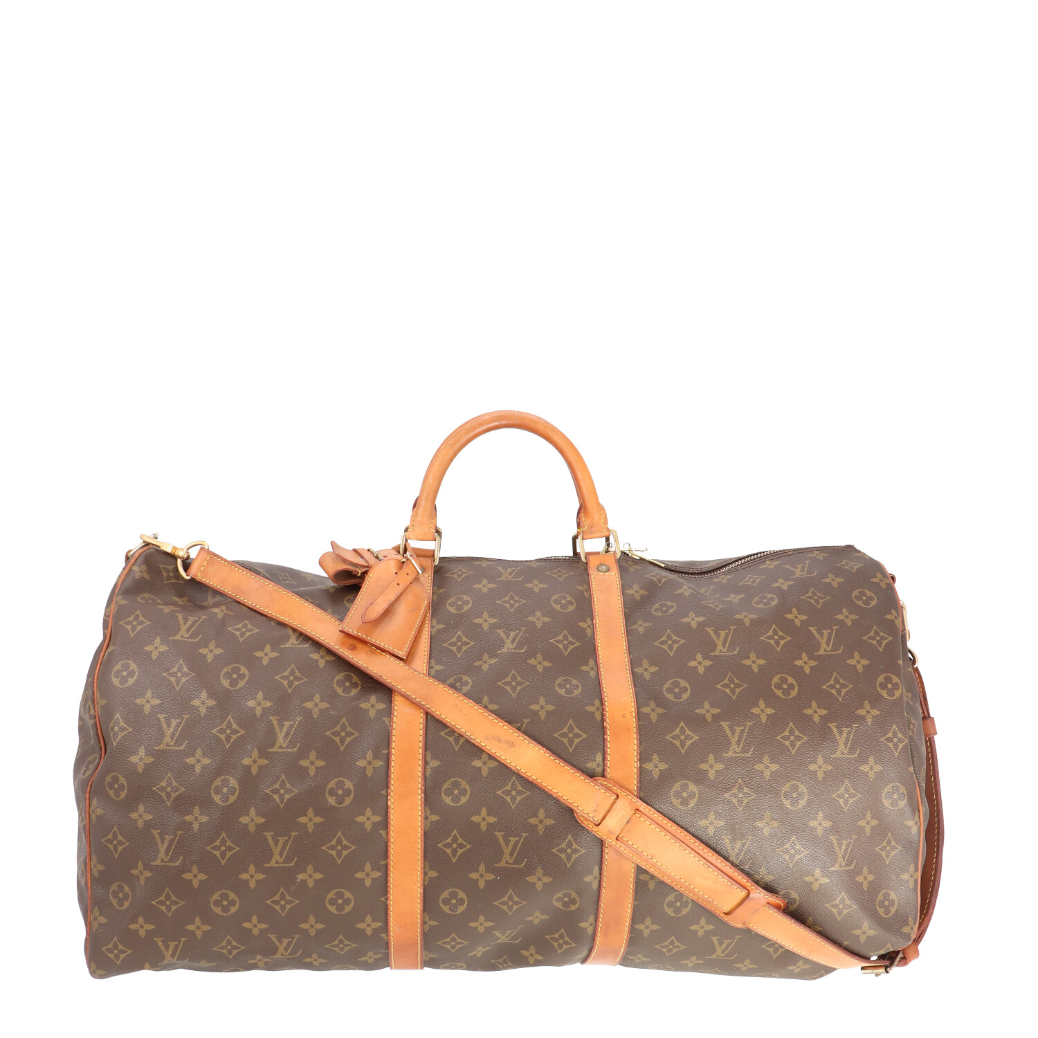 Louis Vuitton Brown Monogram Canvas Keepall Bandouliere 60