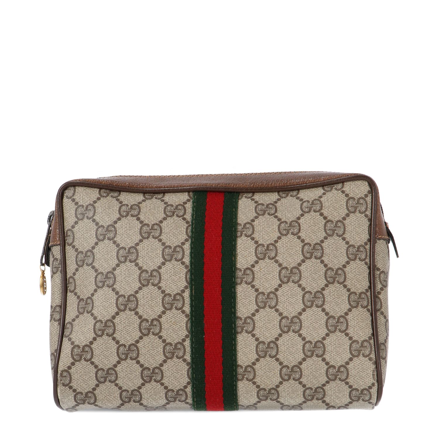 Gucci Brown Diamante Coated Canvas Cosmetic Pouch