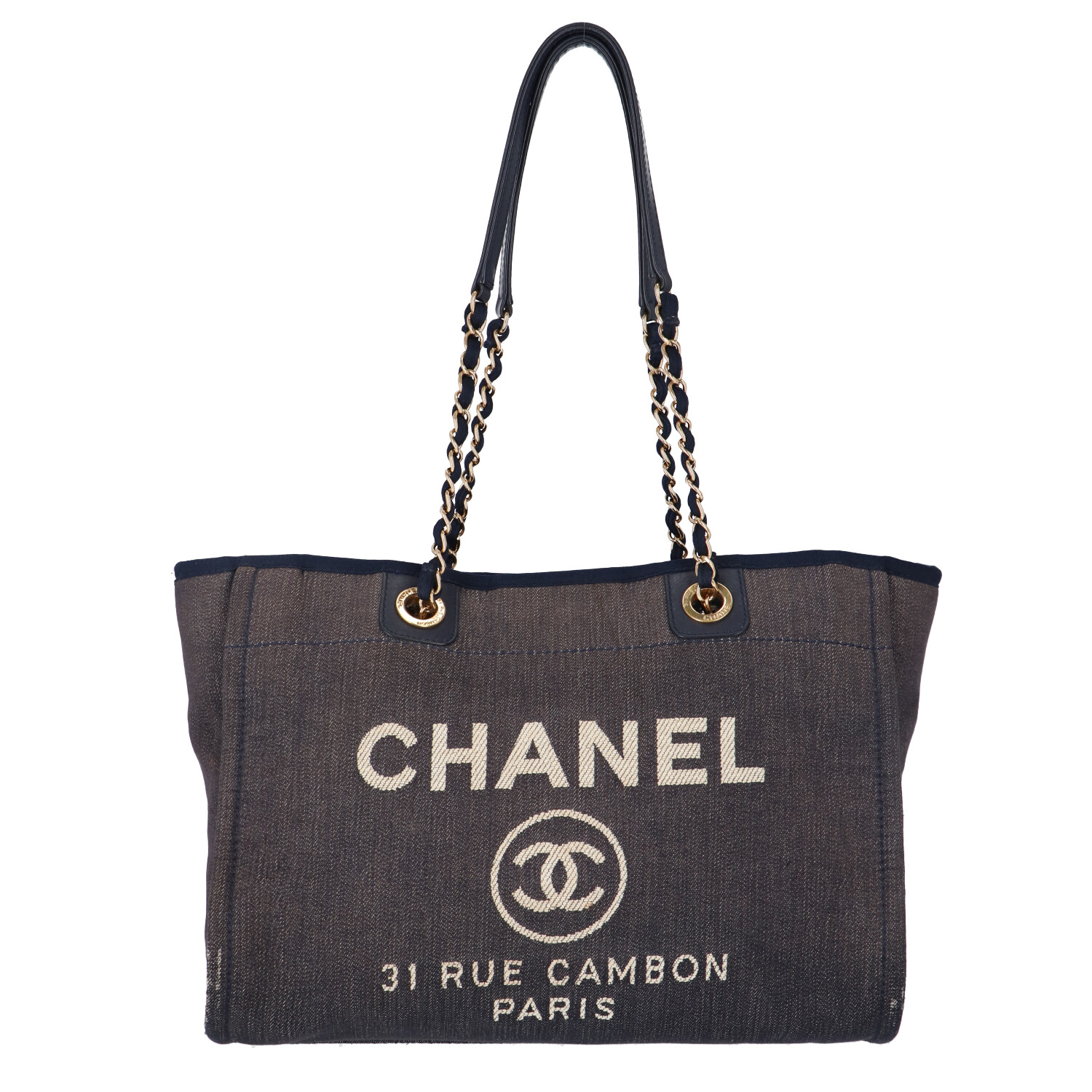 Chanel Navy Canvas Deauville