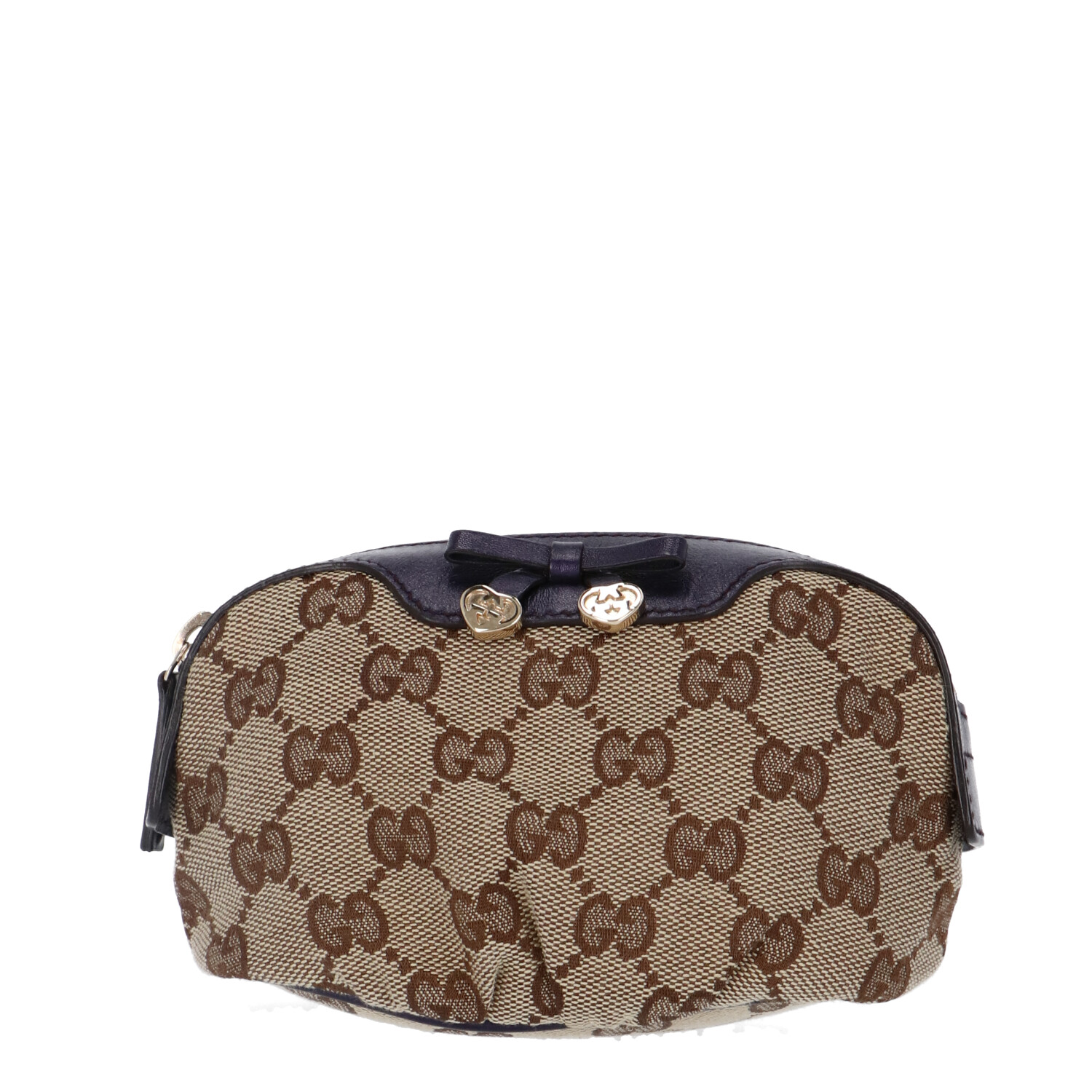 Gucci Brown Diamante Canvas Cosmetic Pouch