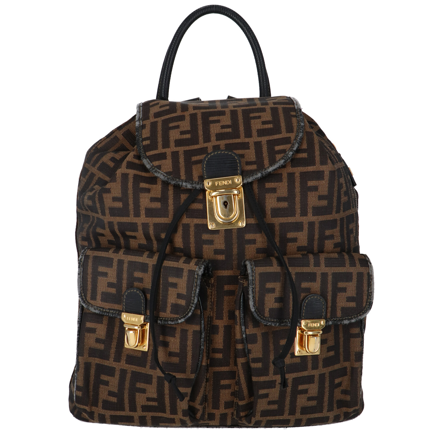 Fendi Brown Zucca Canvas Backpack