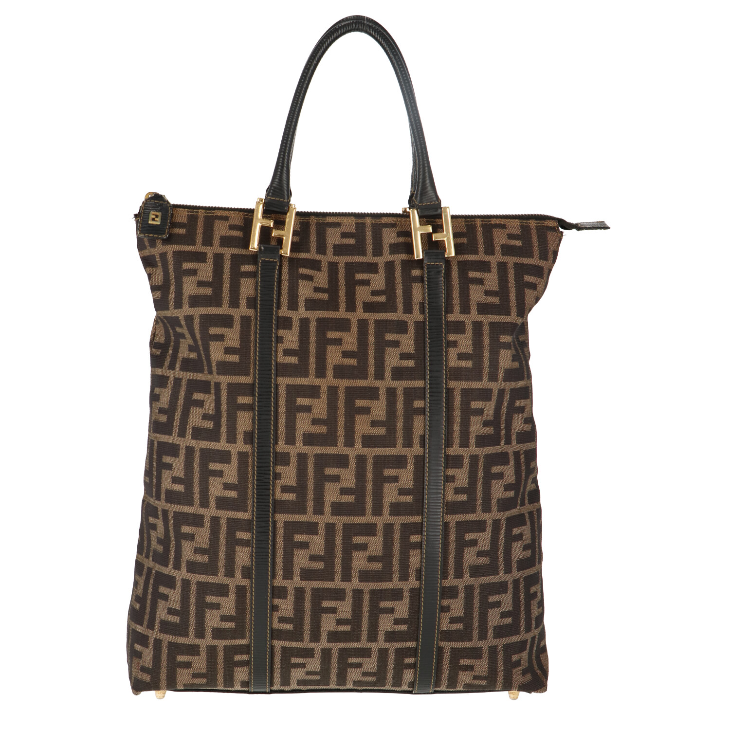Brown Zucca Canvas Handbag
