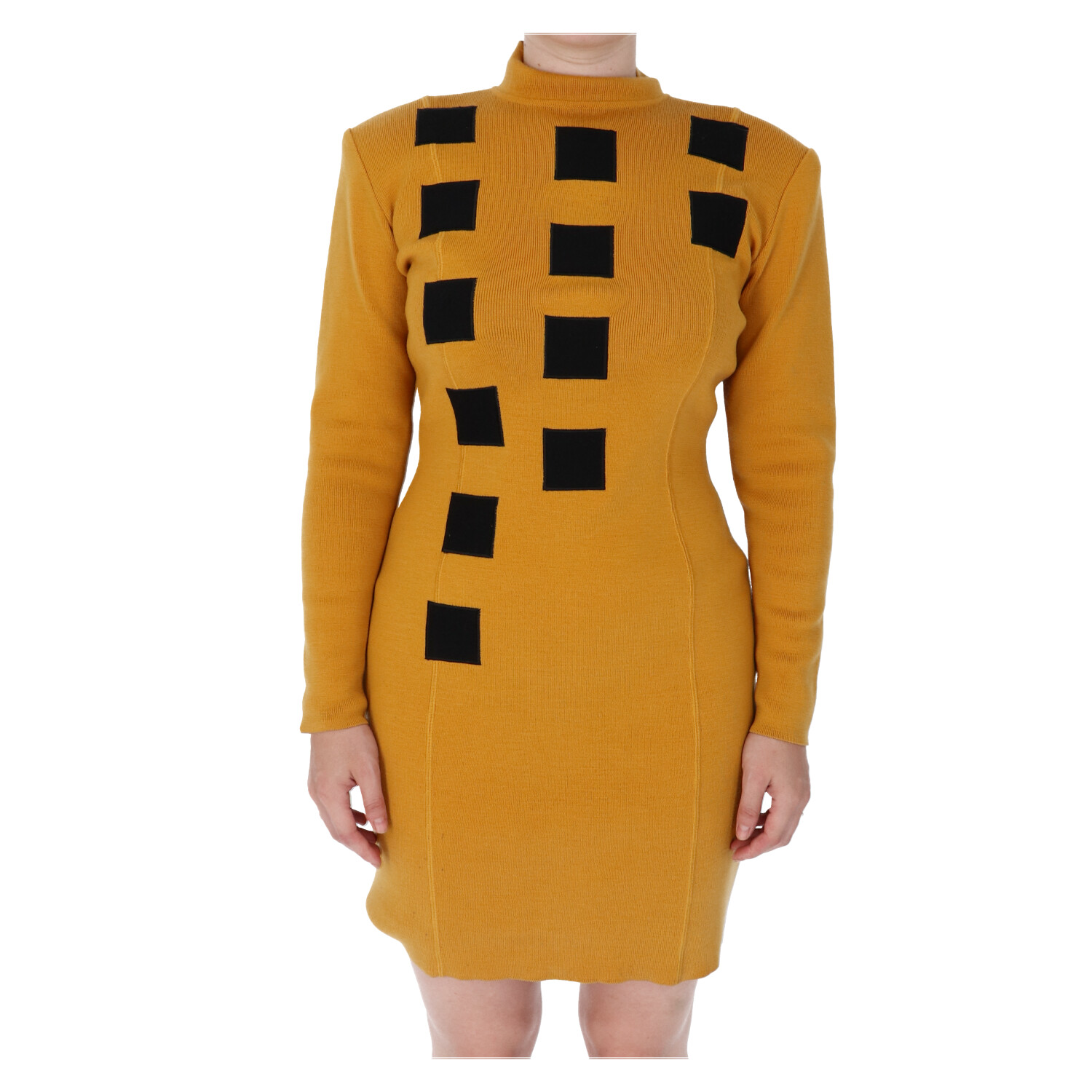 Dior Yellow Knitted Sweater Dress