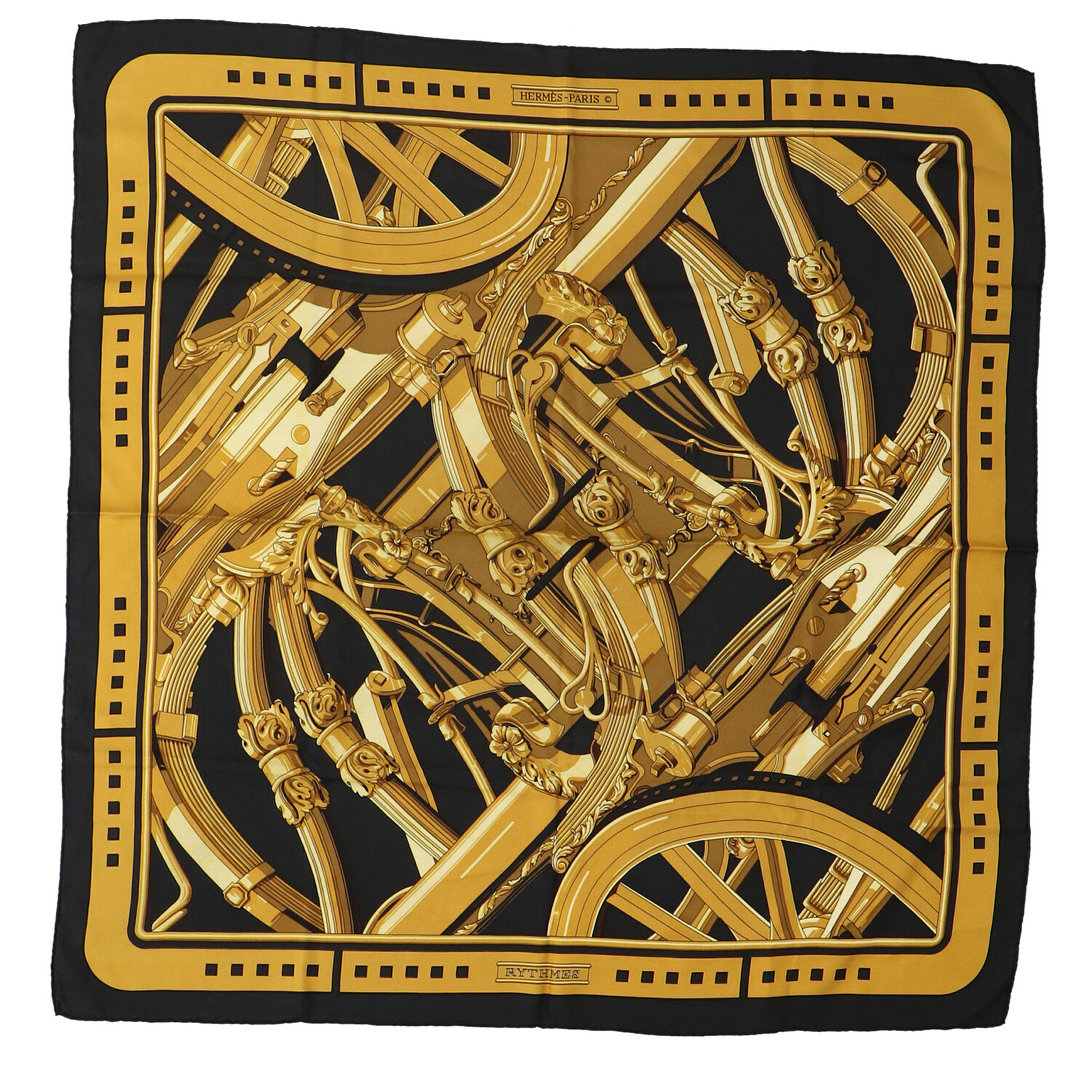 Hermes Yellow Silk Scarf
