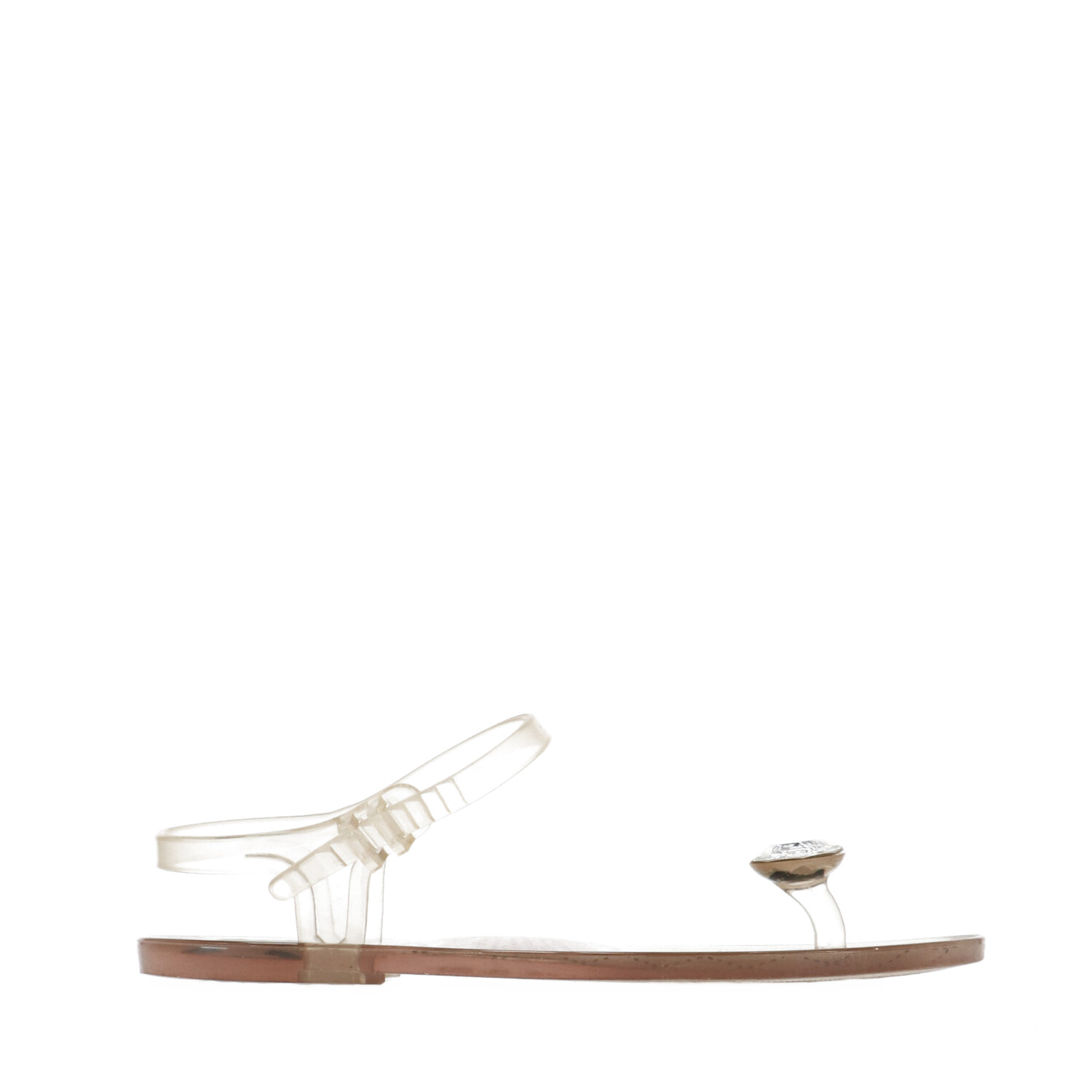 Chanel White Transparent Vinyl Sandals