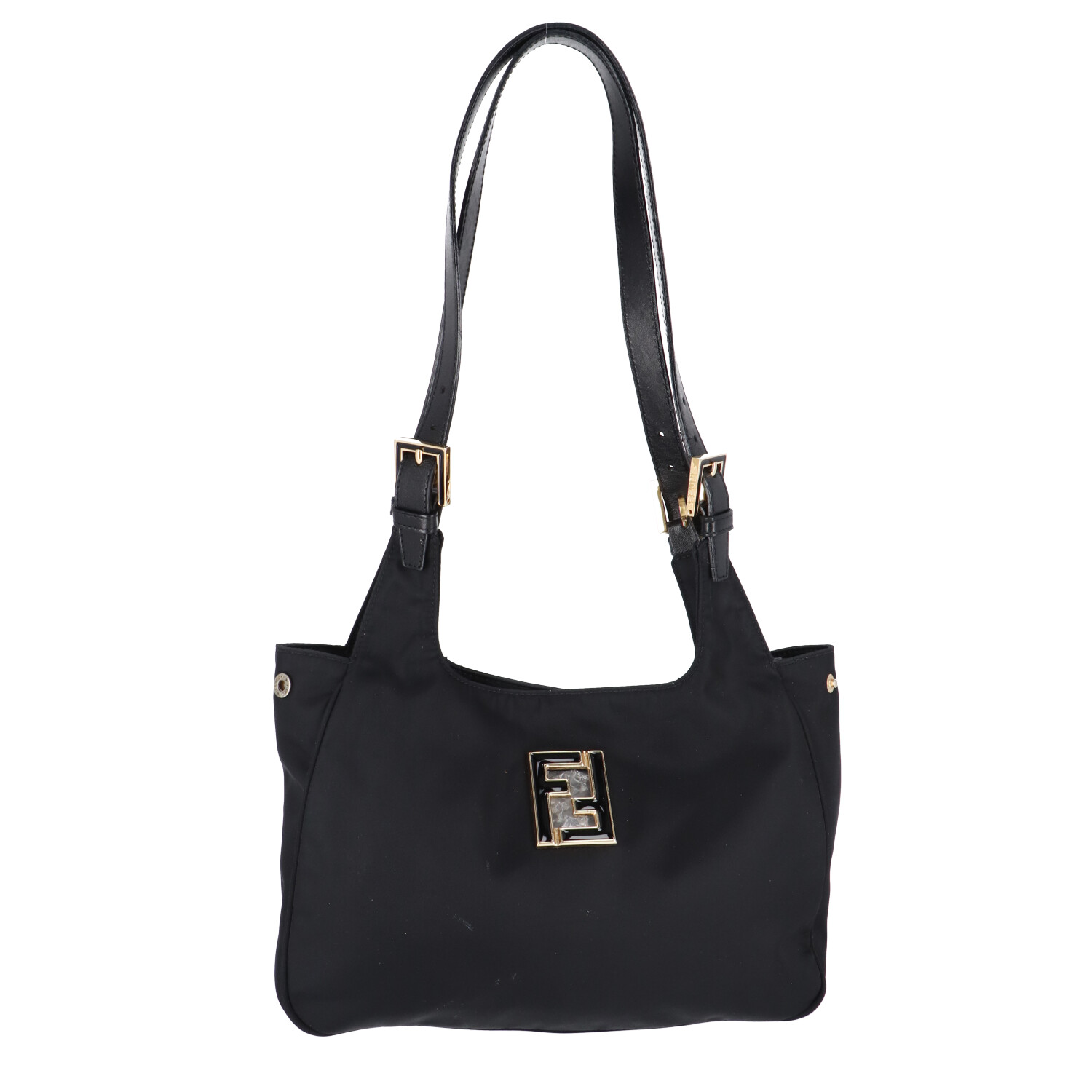 Fendi Black Nylon Shoulder Bag