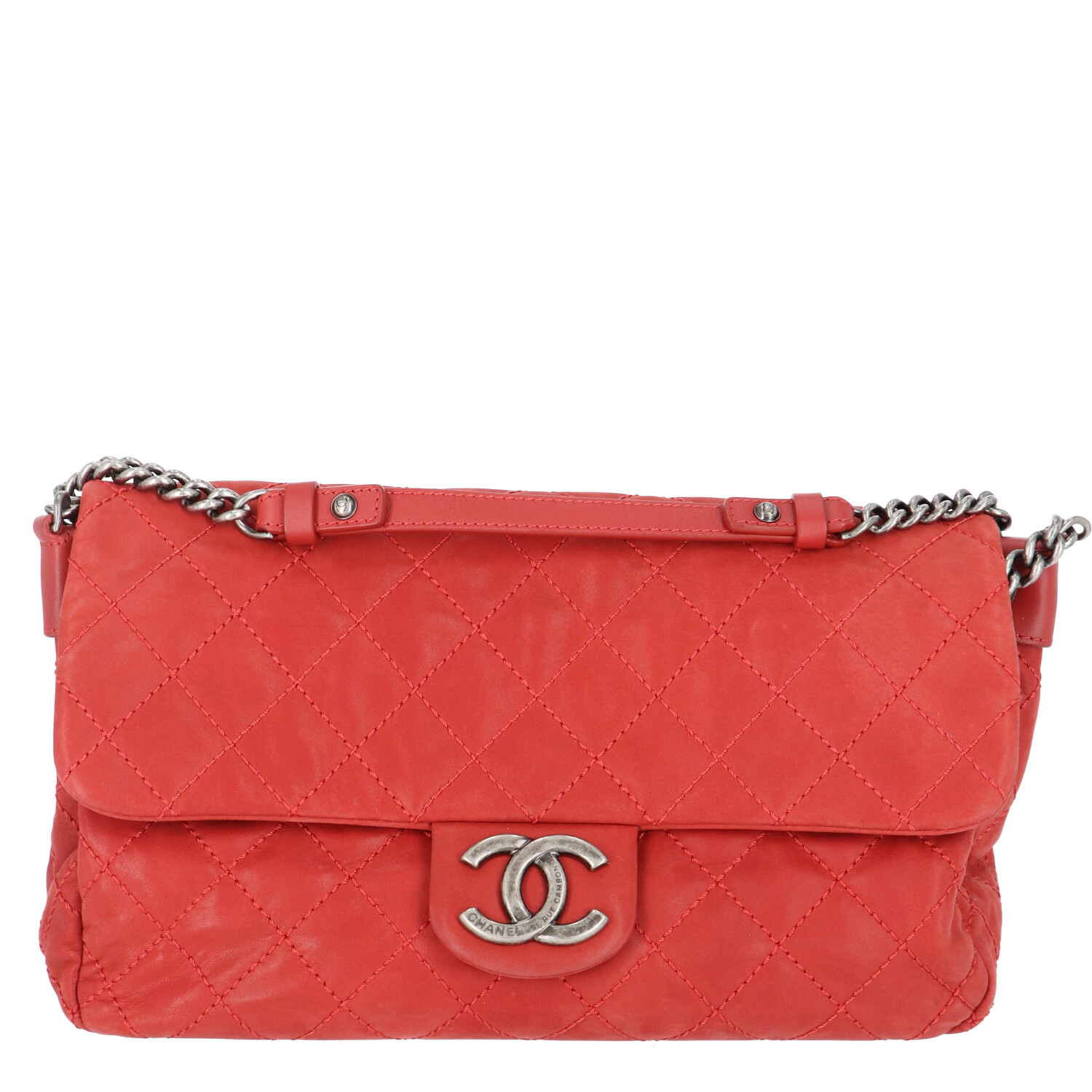 Chanel Red Suede Specialty Flap Bag